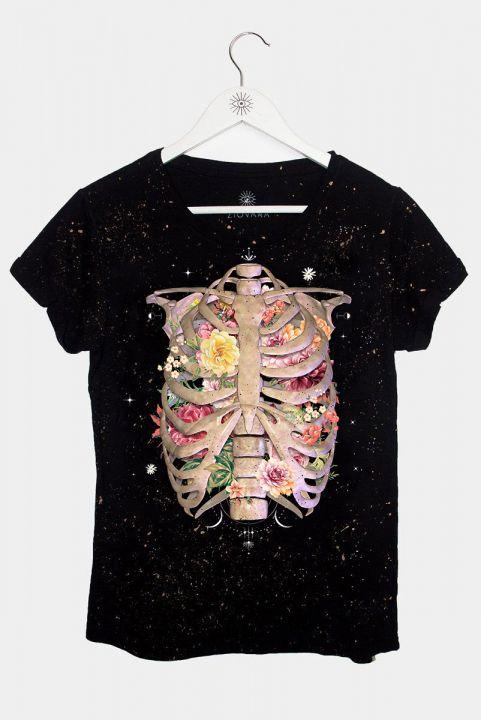 Camiseta Babylook Tórax Floral