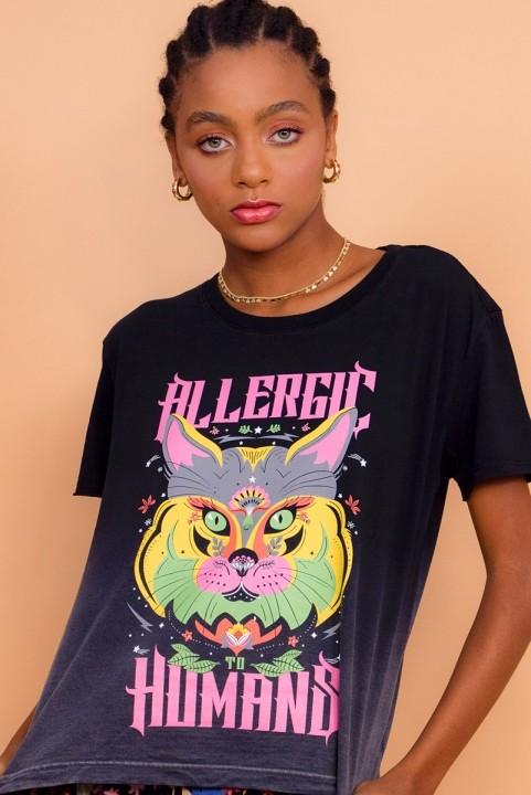 Camiseta Box Allergic Gato