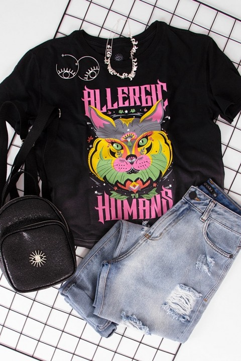 Camiseta Box Allergic Gato
