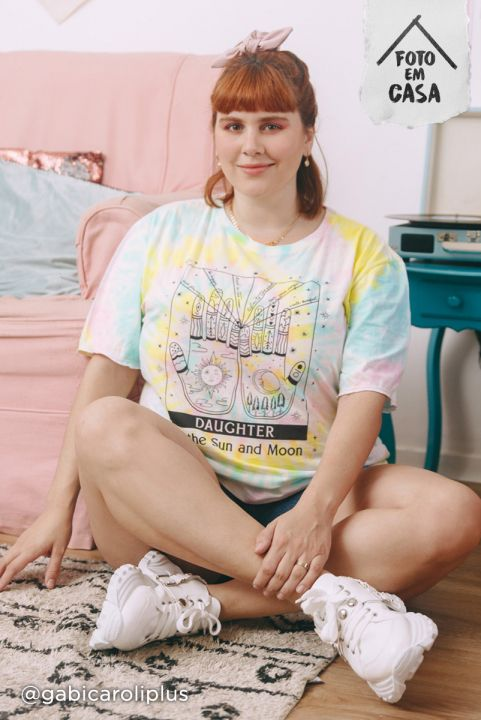 Camiseta PLUS T-shirt Tie Dye Daughter