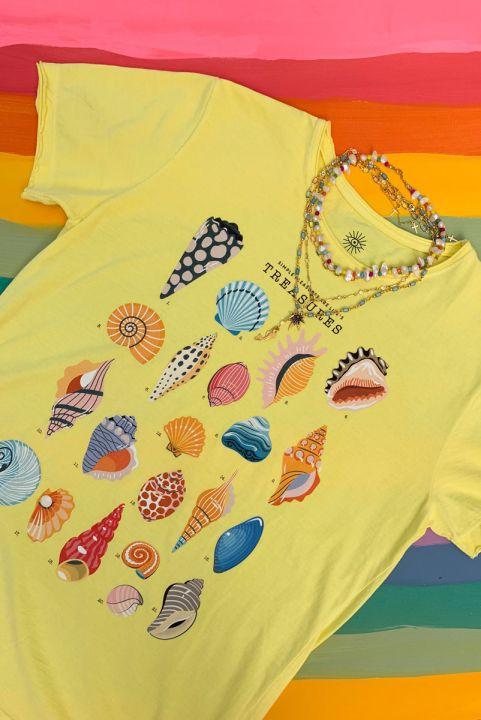 Camiseta T-shirt Conchinhas Treasure
