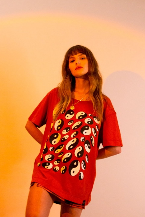 Camiseta T-shirt Distortion Yin Yang