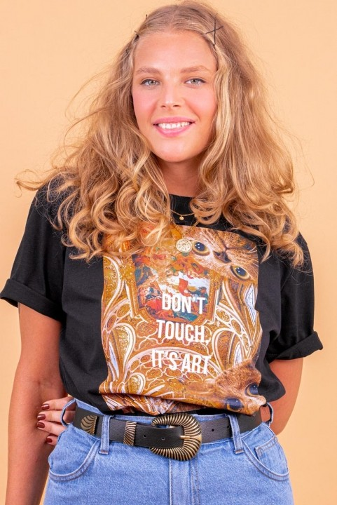 Camiseta T-shirt Don´t Touch Gato