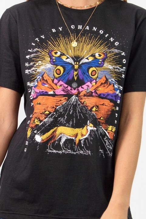 Camiseta T-shirt Landscape Fox
