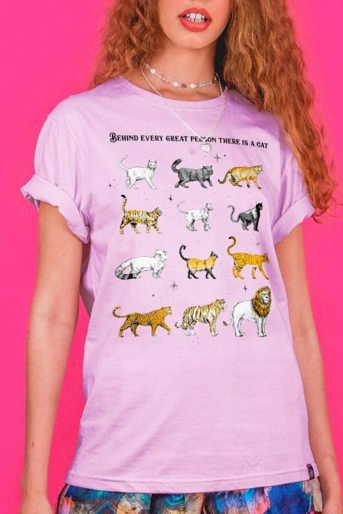 Camiseta T-shirt Lilás Felinos