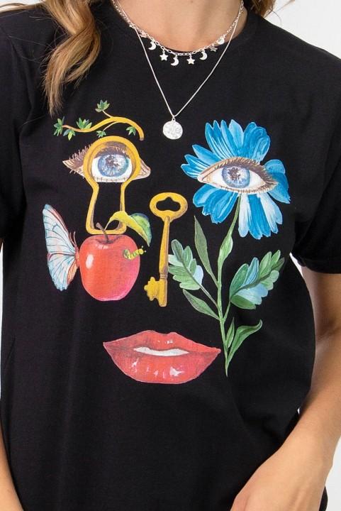 Camiseta T-shirt PLUS Rosto Surrealista