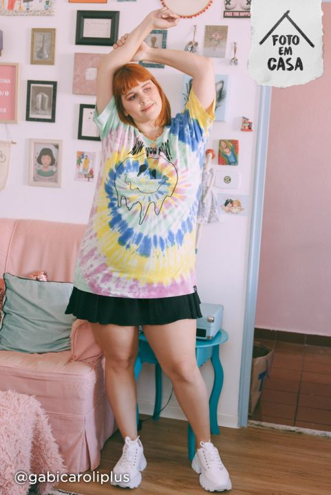 Camiseta T-shirt PLUS Tie Dye Smile