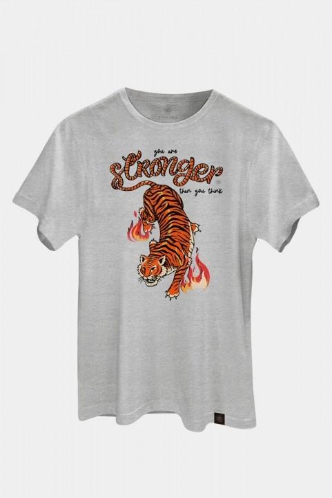Camiseta T-shirt PLUS Tigre Strong Mescla