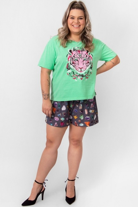 Camiseta T-shirt PLUS Verde Tiger