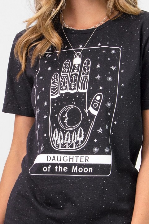 Camiseta T-shirt Preta Daughter Of The Moon