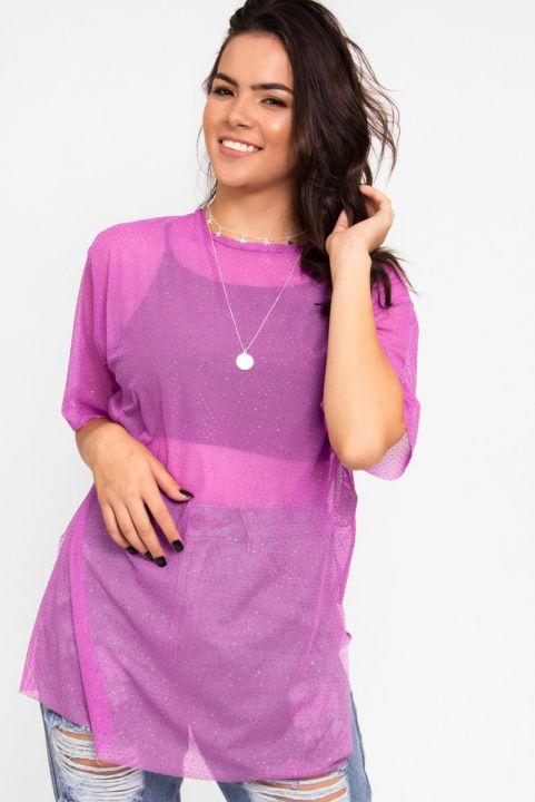 Camiseta T-shirt Purple Ponto de Luz
