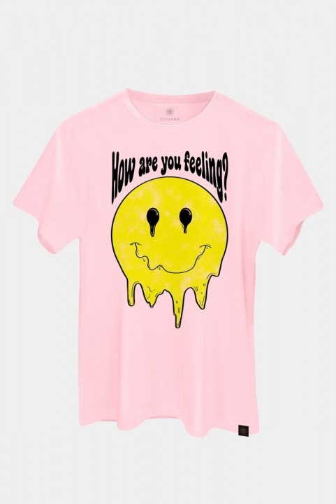 Camiseta T-shirt Smile Rosa Feeling