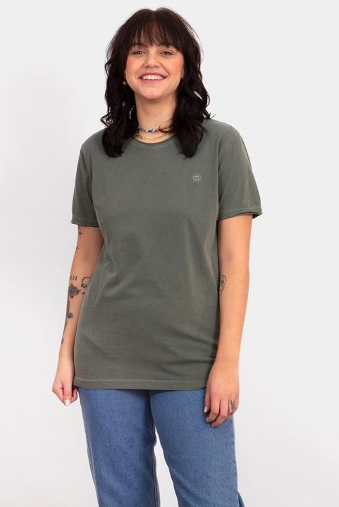 Camiseta T-shirt Unisex Logo Verde Militar