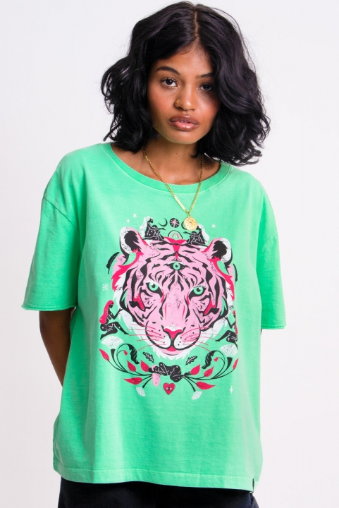 Camiseta T-shirt Verde Tiger