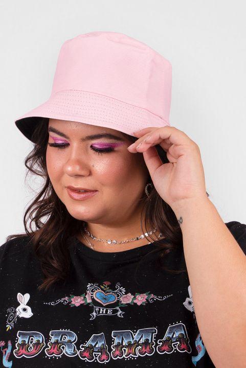 Chapéu Bucket Dupla-Face Rosa e Preto