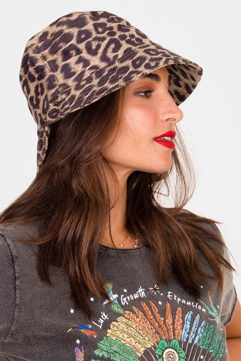 Chapéu Bucket Leopardo