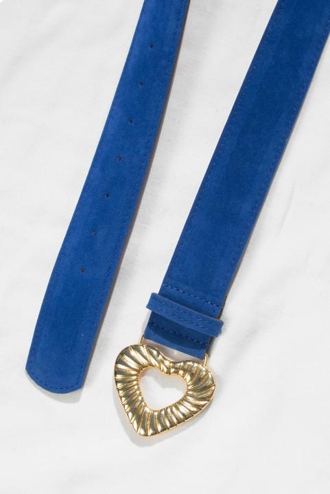 Cinto Coração Amelie Azul Royal