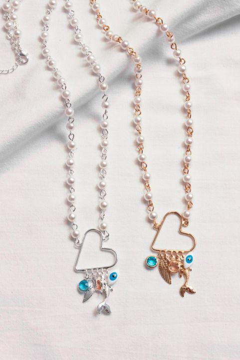 Colar Coração Mix Amuleto