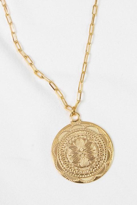 Colar Medalha Boho Iris