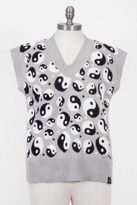 Colete Yin Yang Cinza