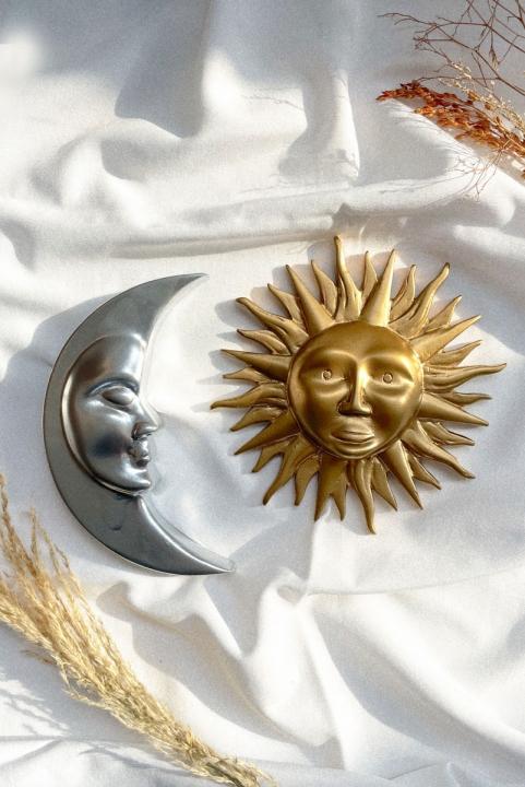 Combo Adorno Decor Sol e Lua