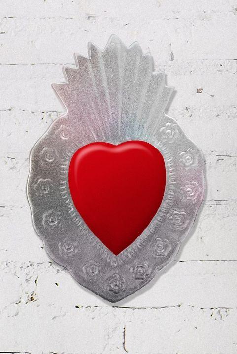Coração Decor Flames Grande