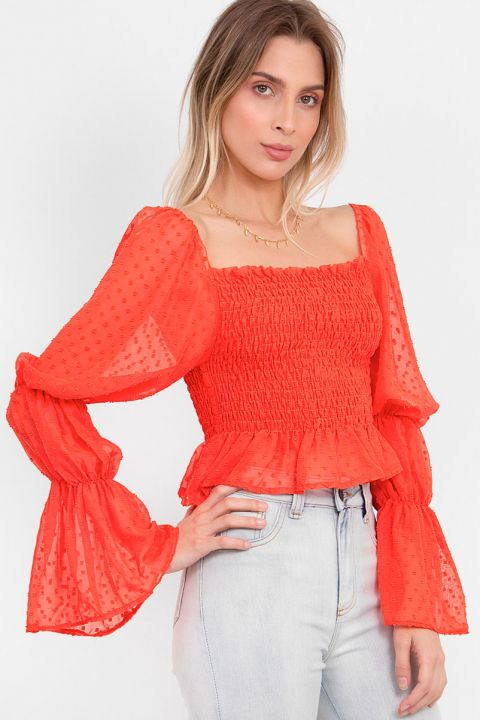 Cropped Lastex Aimee Coral