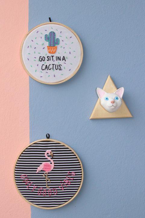 Gato Branco Decorativo