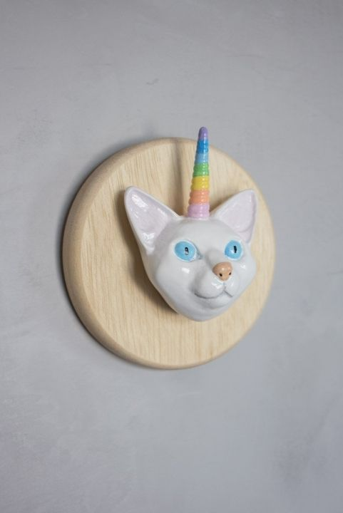 Gato Unicornio Decorativo