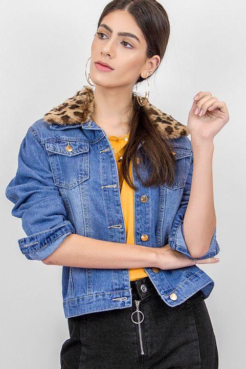 Jaqueta Jeans w/ Onça