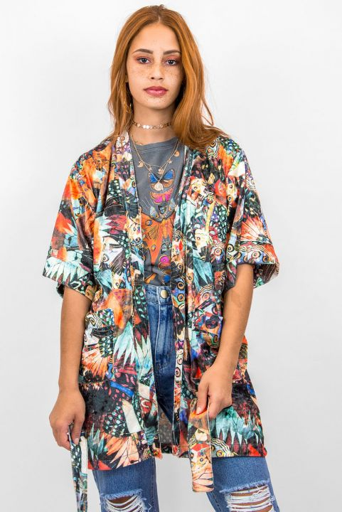 Kimono Veludo Borboleta
