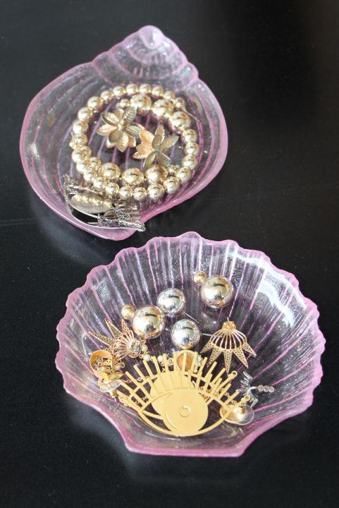 Kit Decor Porta-Jóia Conchas Translucido