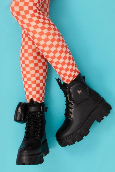 Legging Frufru Checkerboard - Lava