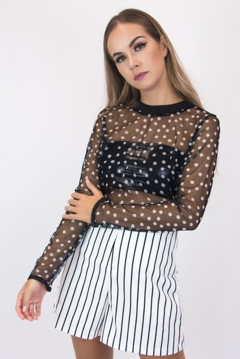 Macaquinho Listado + Tule Polka Dots