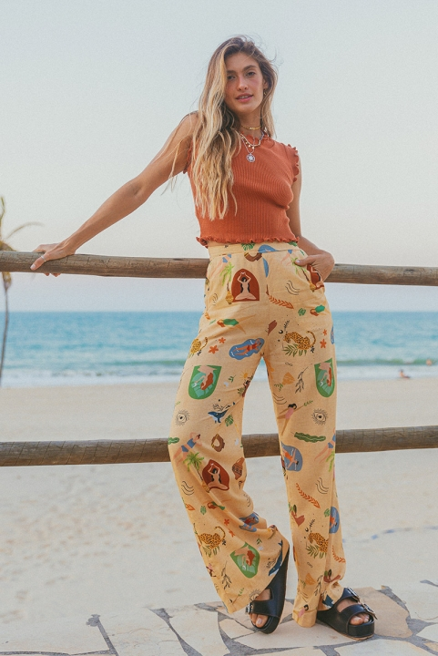 Pantalona Elementar - Bege