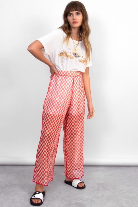 Pantalona Tule Checkerboard Lava