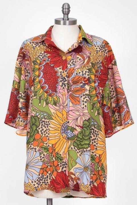 PRÉ-VENDA Camisa Oversized Flower Power