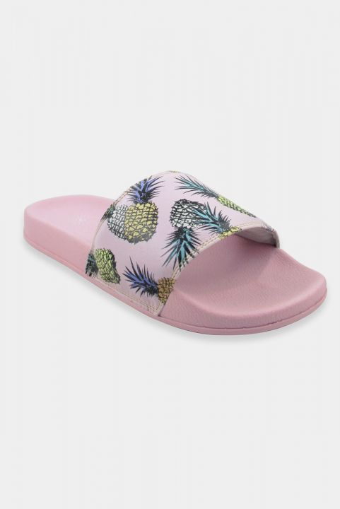 Chinelo Slide Estampado - ABACAXI