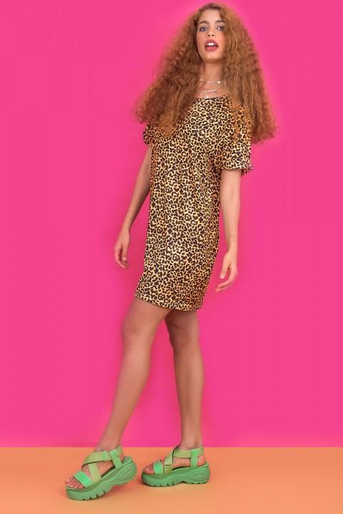 T-shirt Dress Malha Oncinha