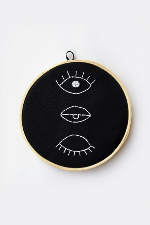 Quadrinho Bordado Decor Eyes