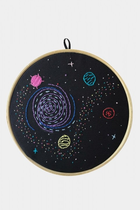 Quadrinho Bordado Decor Galaxy