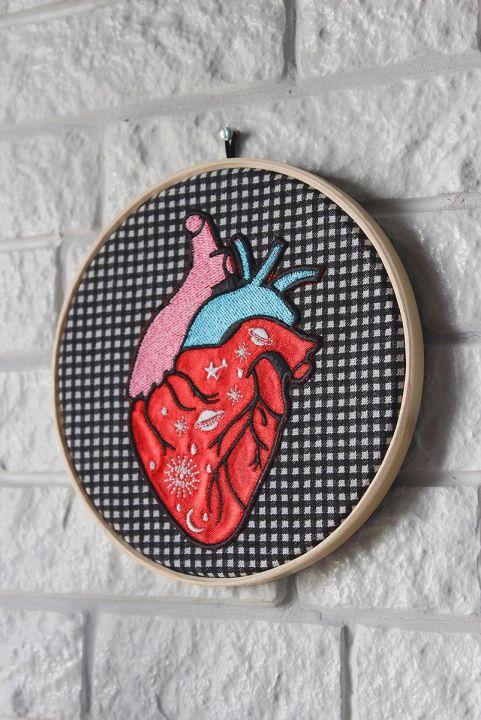 Quadrinho Decor Xadrez Coração