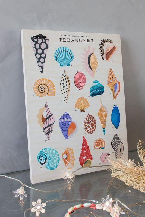 Quadro DecorConchinhas Treasures