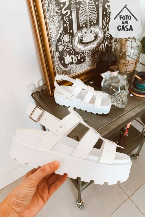 Sandália Branca Carla