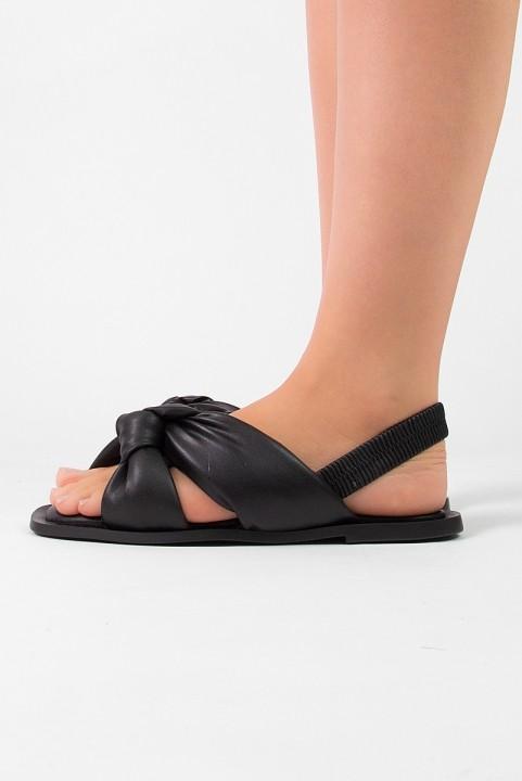 Sandália Flat Puff Preta