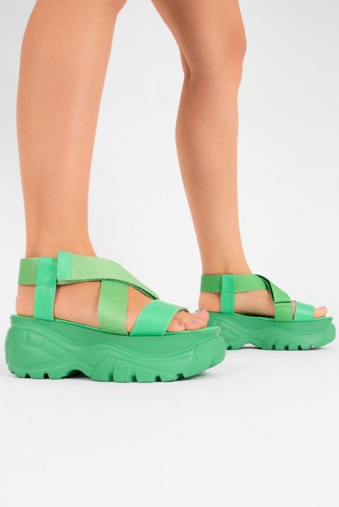 Sandalia Papete Chunky - Verde