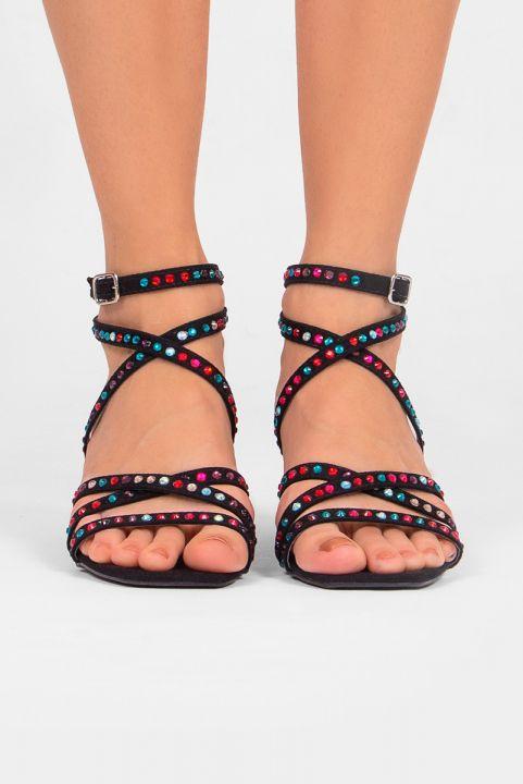 Sandália Tira c/ Pedrinhas Coloridas