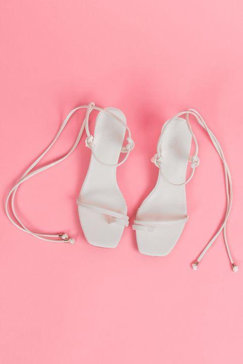 Sandália Tiras Naked Branca