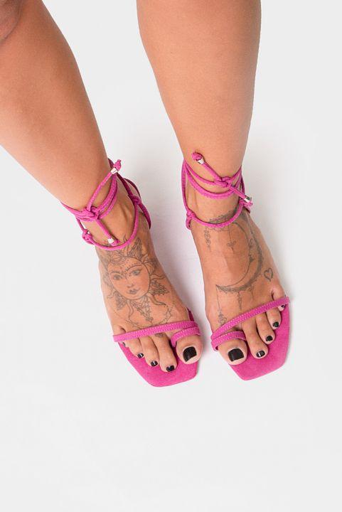 Sandália Tiras Naked Pink