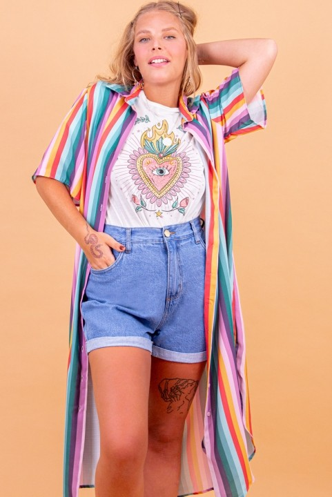 Shorts Mom Jeans Azul